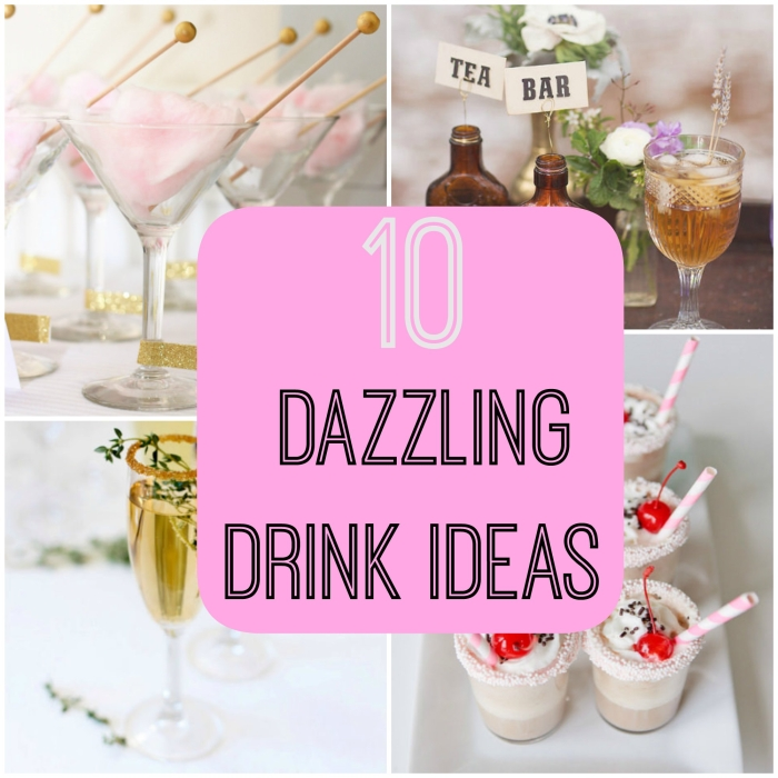 drink ideas wedding