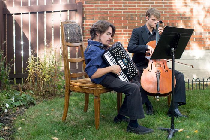 wedding cellist and accordionist
