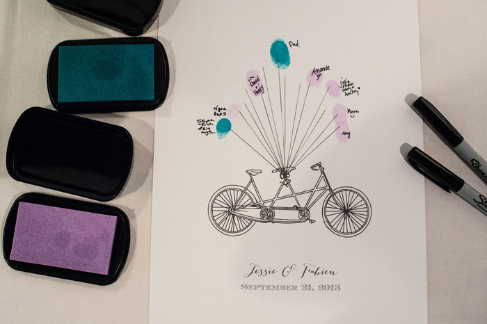 bicycle and balloon guest book