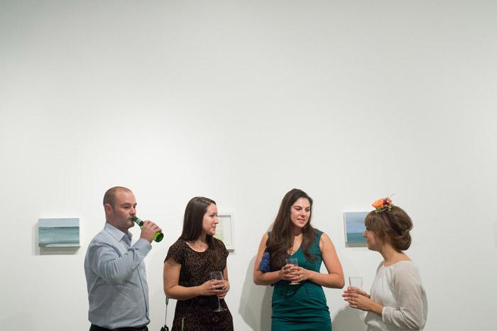 art gallery wedding reception