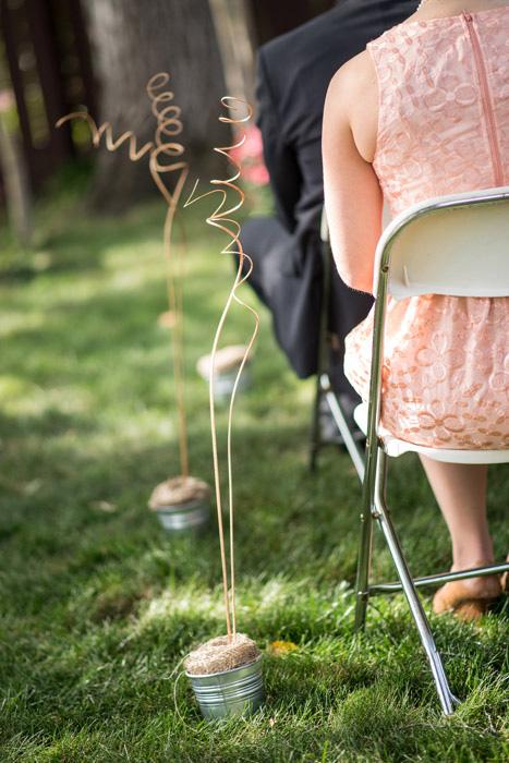 wedding aisle garden sculptures