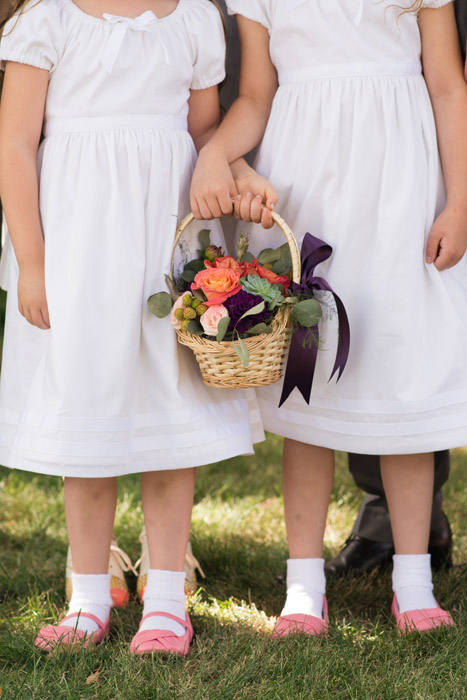 flower girls in white