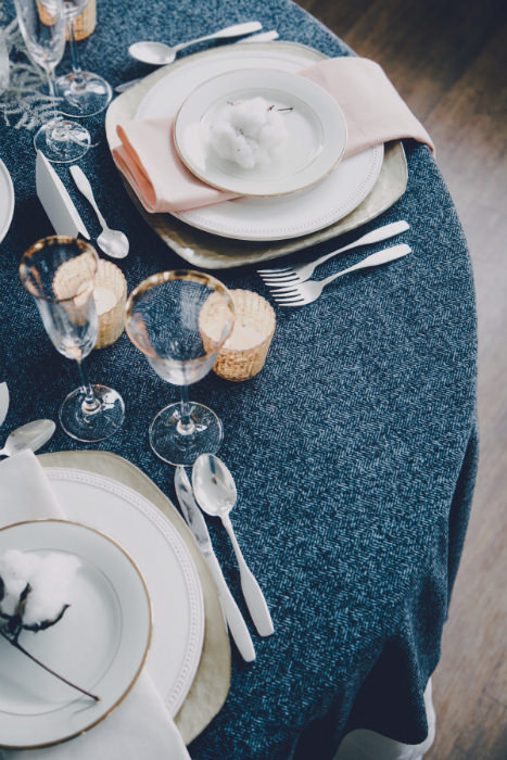 indigo linen tablecloth