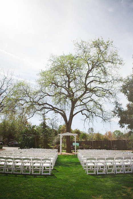 farm wedding ceremony set-up