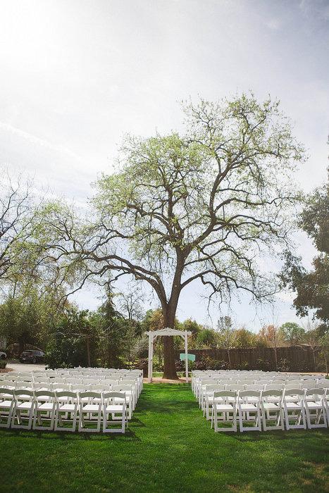 Farm Wedding Ceremony Set Up