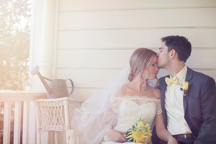 Intimate California farm wedding
