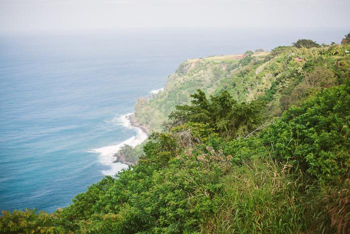 Hawaii cliff view