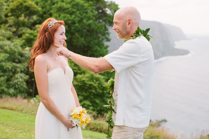 cliffside wedding ceremony