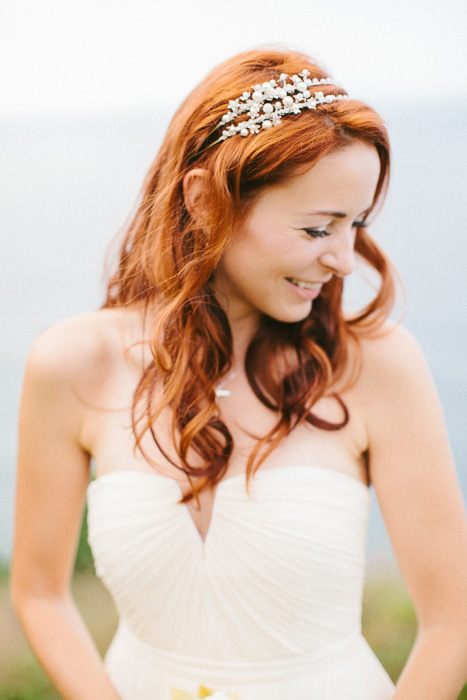 red headed bride