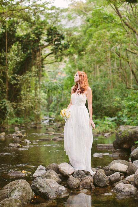 bridal portrait in Hawaii