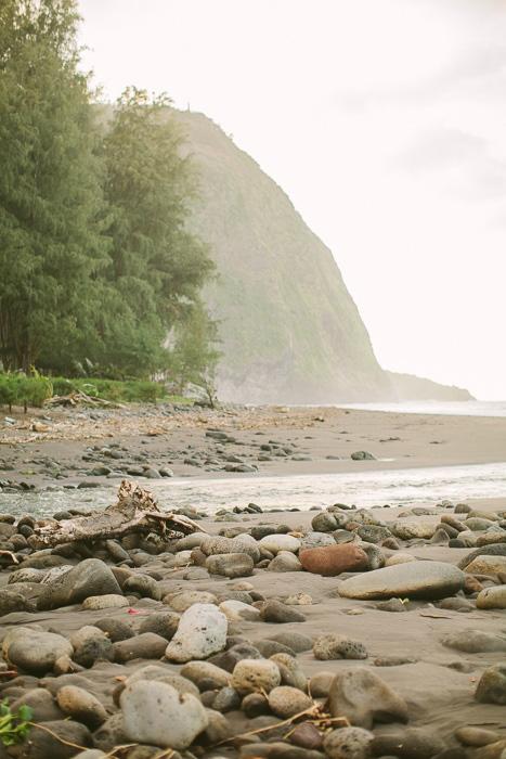 Hawaii rocky beach