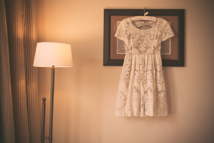 short lace elopement dress
