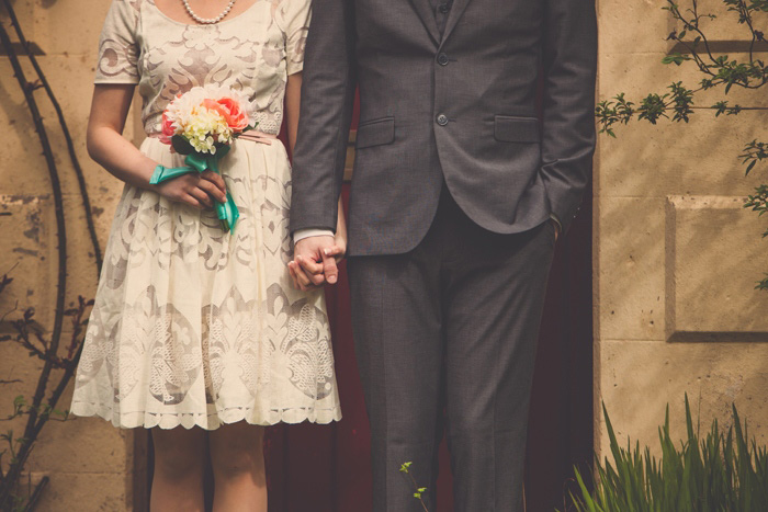 headless wedding portrait