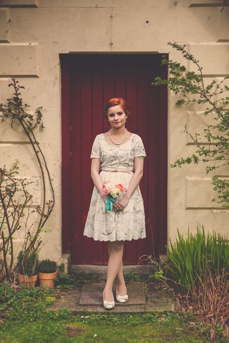 irish bridal portrait