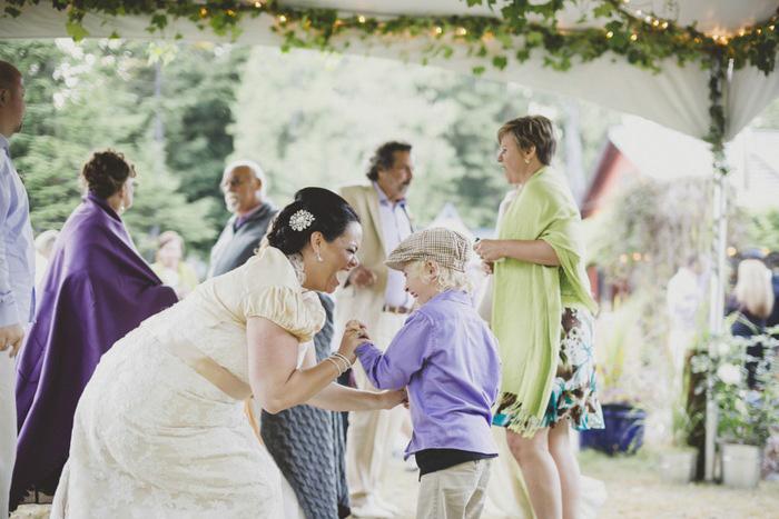 bride dancing with ring bearer