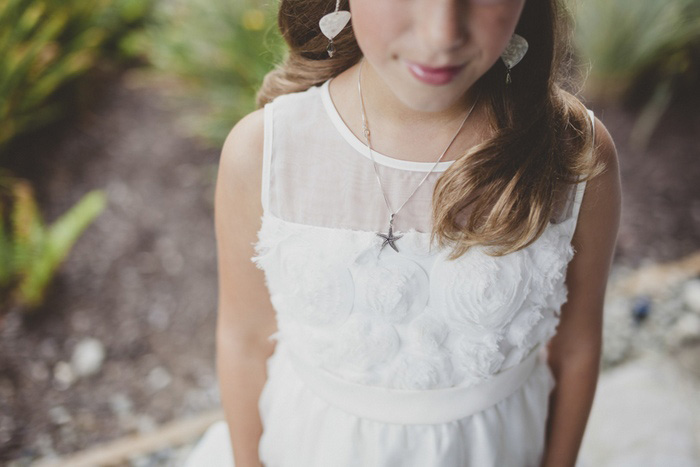 flower girl in white dress