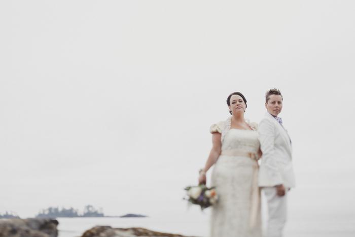 same sex bridal portrait