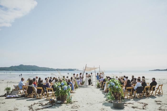 beachfront wedding ceremony