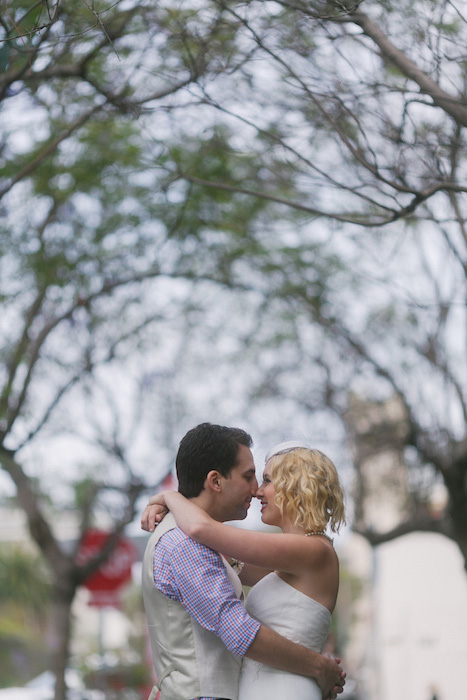 bride and groom in San Diego