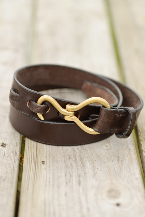 wiley leather belt