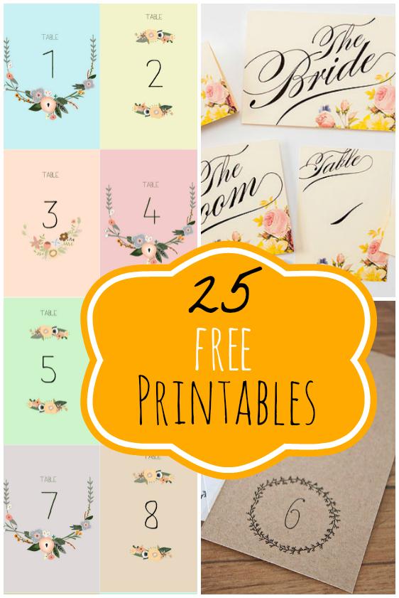 Free Wedding Printables.25 Free Wedding Printables