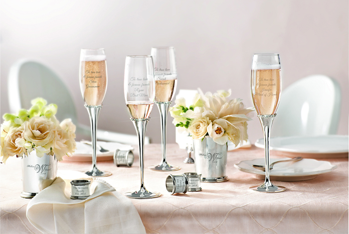 Things Remembered Champagne flutes