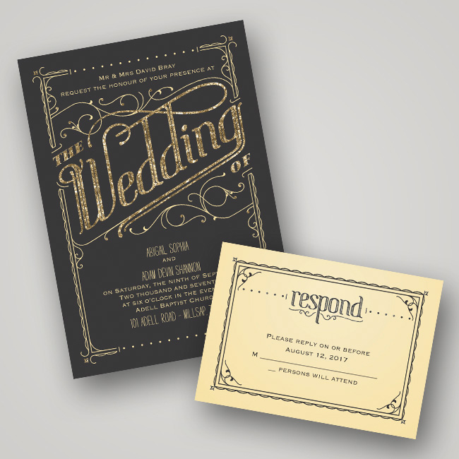 Beautiful Glitter And Glam Wedding Stationery From Invitations By Dawn