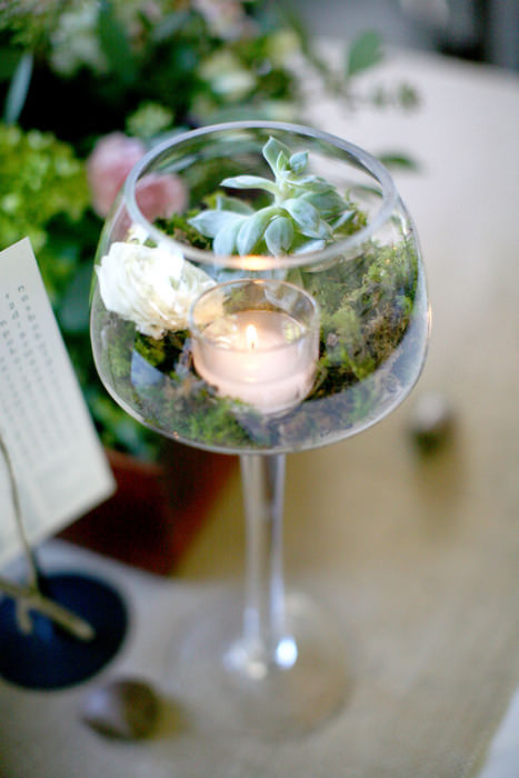Diy Glass Centerpiece : Diy wedding centerpieces