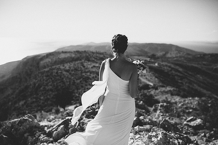 bride on croatian hillside