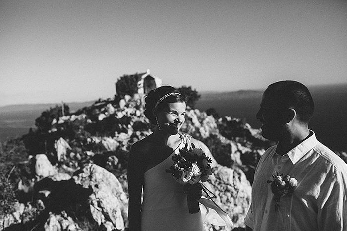 hillside croatian wedding ceremony
