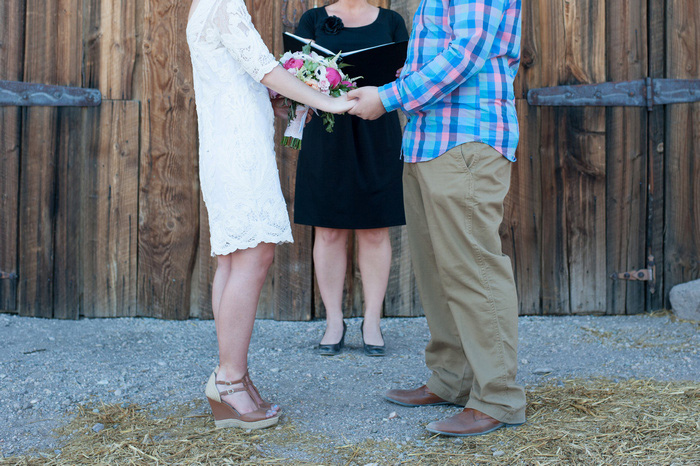 Nevada elopement ceremony