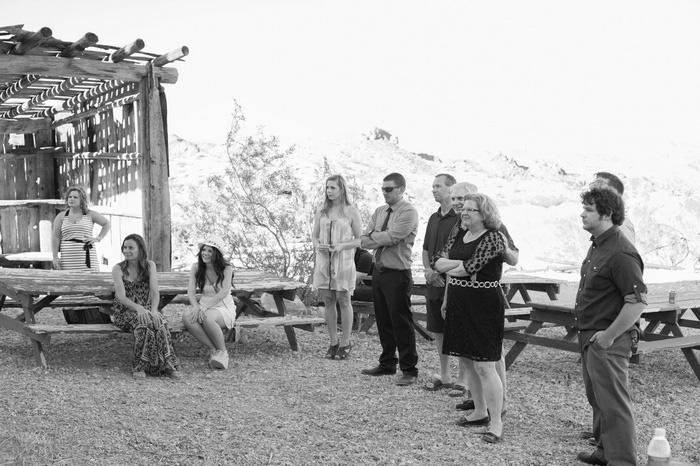 guests at elopement ceremony