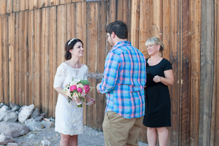 Nevada elopement ceremony
