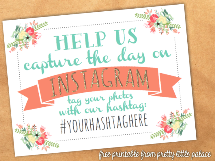 free instagram wedding printable