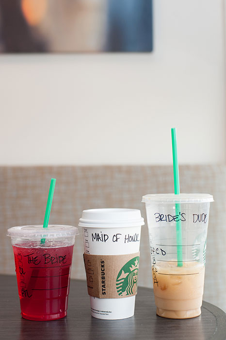 bridal party starbucks order