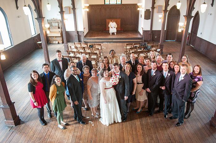 wedding portrait in the chapel