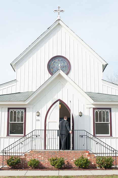 cute white wedding chapel
