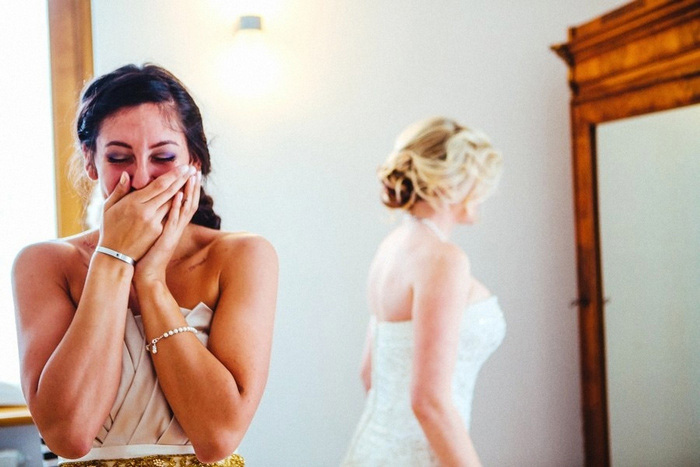 emotional bridesmaid