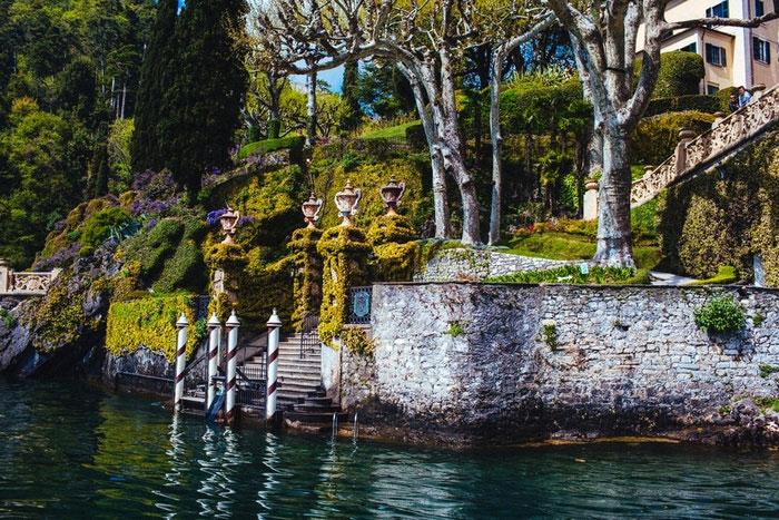 Italian villa boat landing