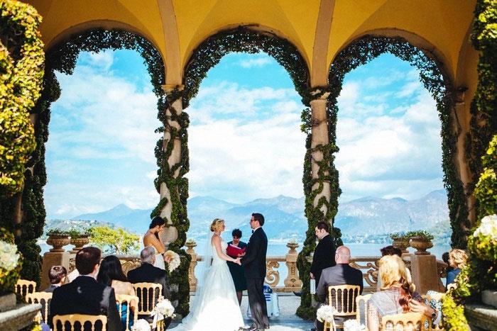 Lake Como Groom Italian Villa Wedding Ceremony