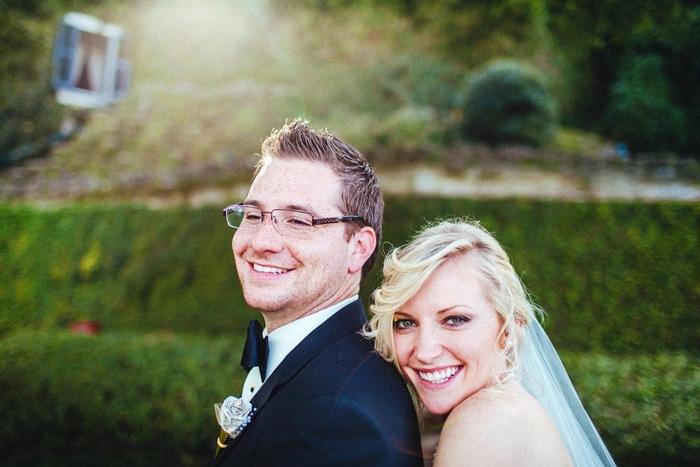 close-up wedding portrait