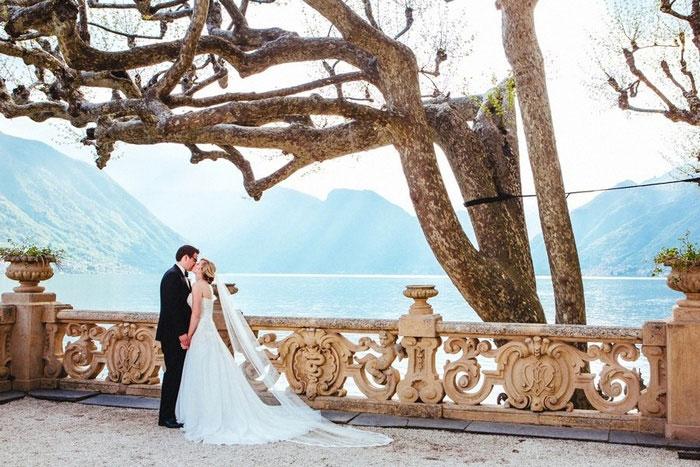Elijah And Rebecca S Lake Como Villa Wedding