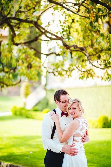 italian brida and groom portrait