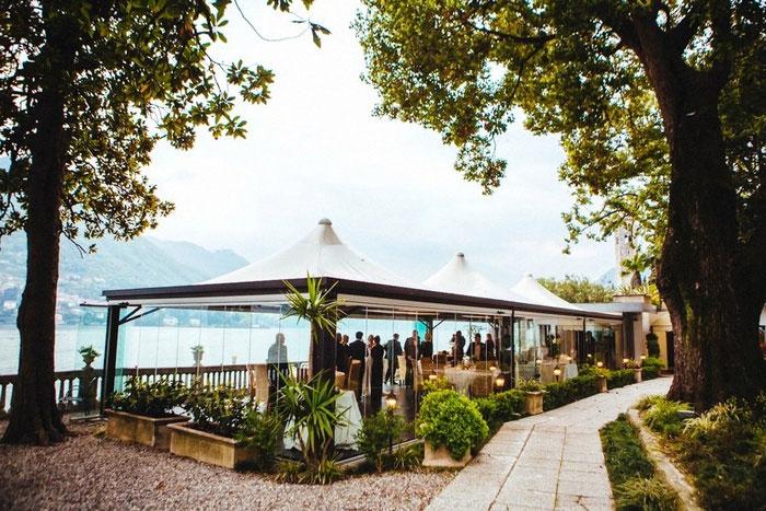 Lake Como restaurant wedding recption
