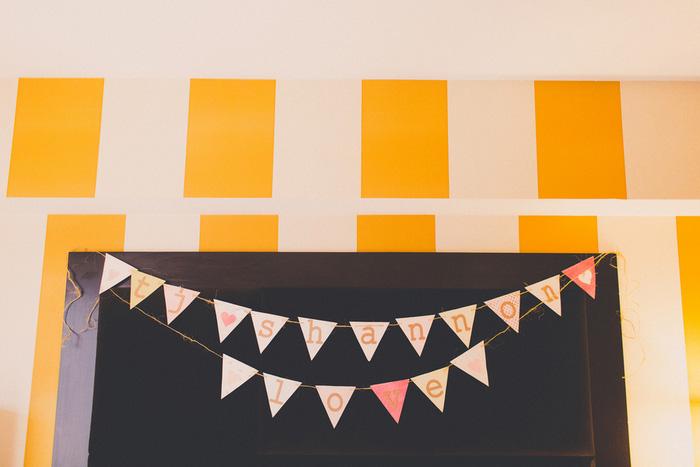 bunting wedding banner