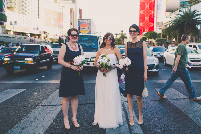 bridal party Vegas portrait