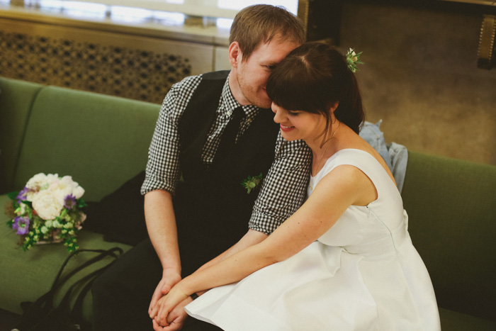 couple waiting to get married at City Hall