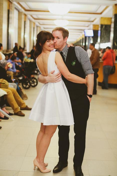 New York elopement couple