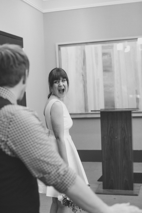 Elopement ceremony at City Hall
