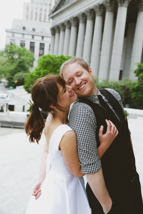 bride and groom eloping in New York